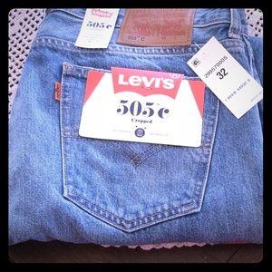 Levi 505 cropped capris jeans